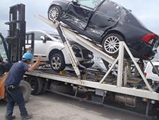 損害車輸送